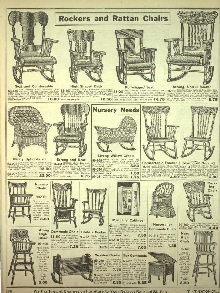 1920s Rocking Chair Swivel Hub Liner Eaton S Fall And Winter Catalogue 1920 21 Chairs Although Arm Seating Also Came As