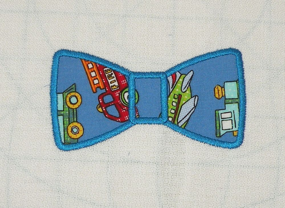 Bow tie applique machine embroidery design machine