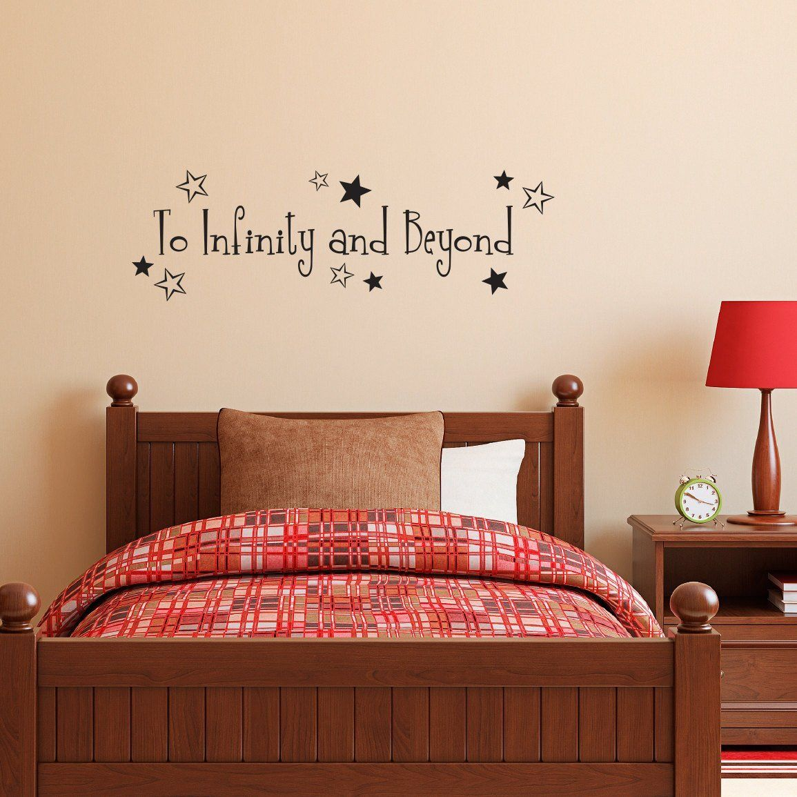 To infinity and beyond quote decal boy bedroom wall decal medium