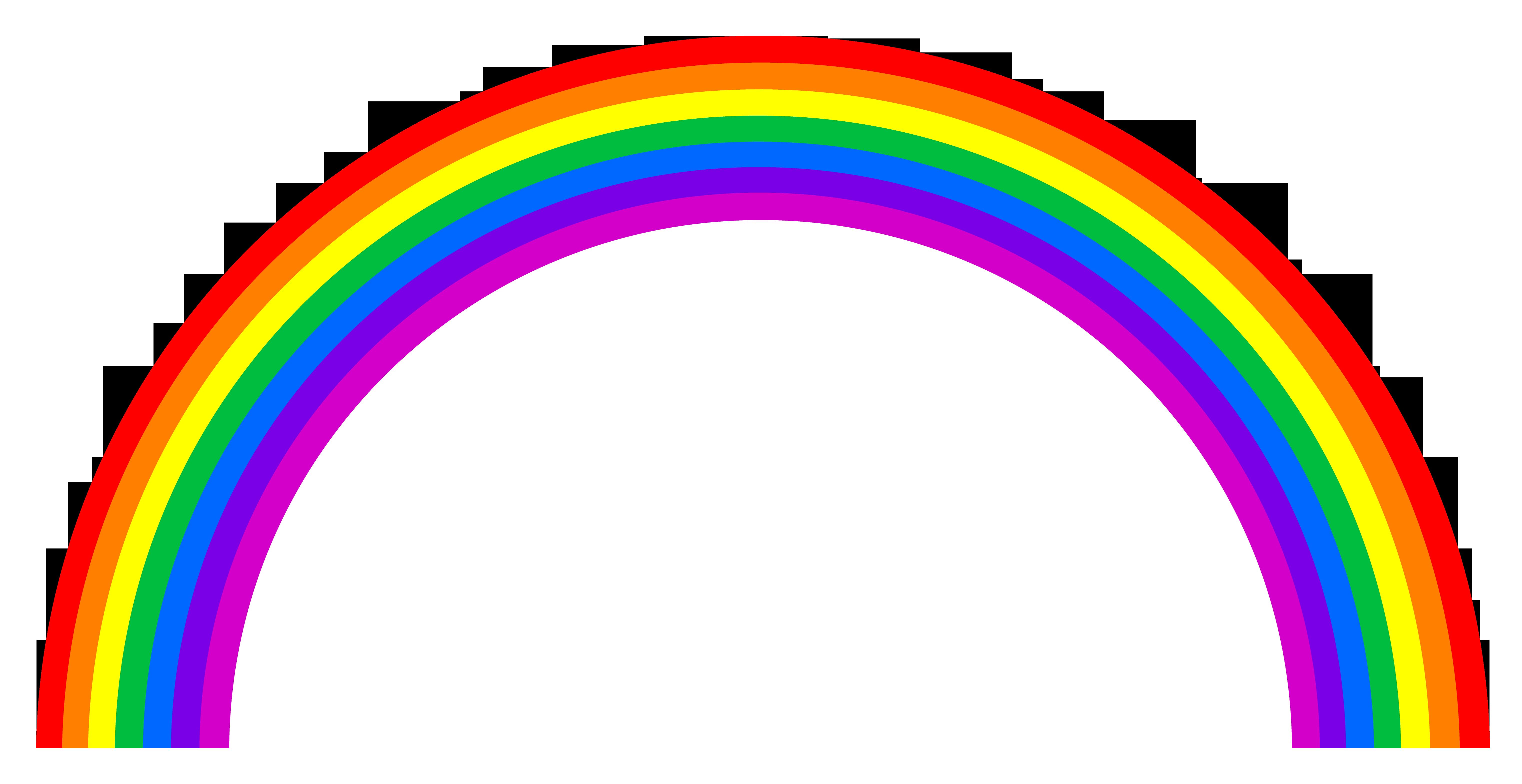 Rainbow Clipart Black And White Clipart Panda Free
