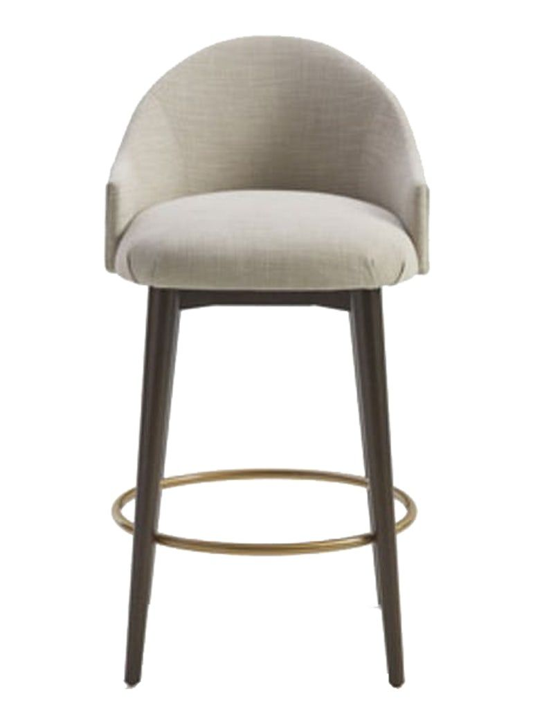 Marilyn Counter Stool With Memory Swivel Upholstered Bar Stools