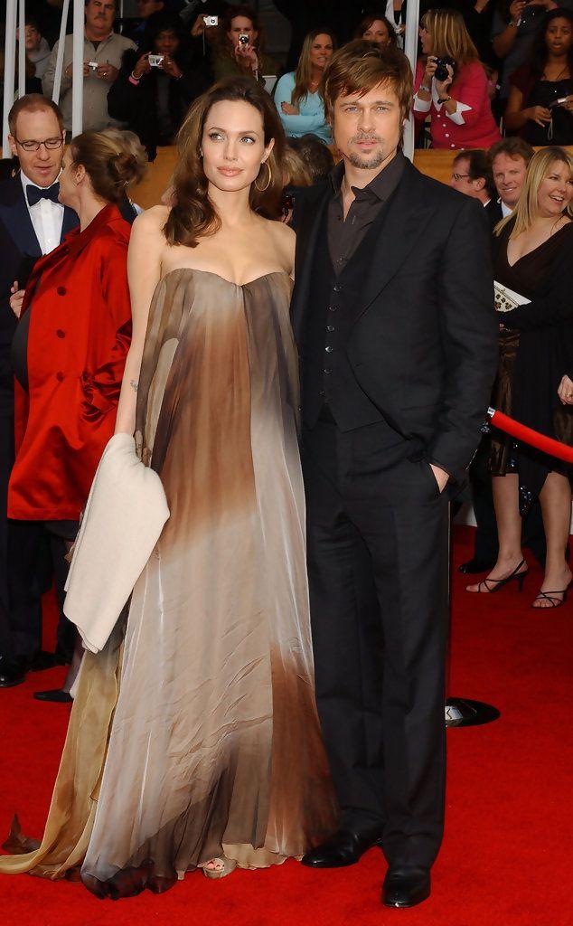 ae6e5d05efc Angelina Jolie and Brad Pitt at the 2008 SAG awards
