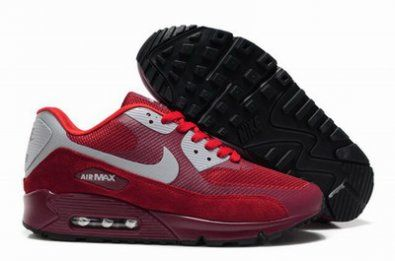sports shoes fe816 23352 Nike Air Max 90 Hyperfuse de piel gris  blanco  rojo httpwww.esnikerun. com