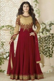 dbecd3cce9f Bollywood Designer Ayesha Takia Maroon Georgette Fabric Party Wear Anarkali   MAROON  GEORGETTE  ayeshatakia  bollywood  anarkali  designer  actress   indian ...