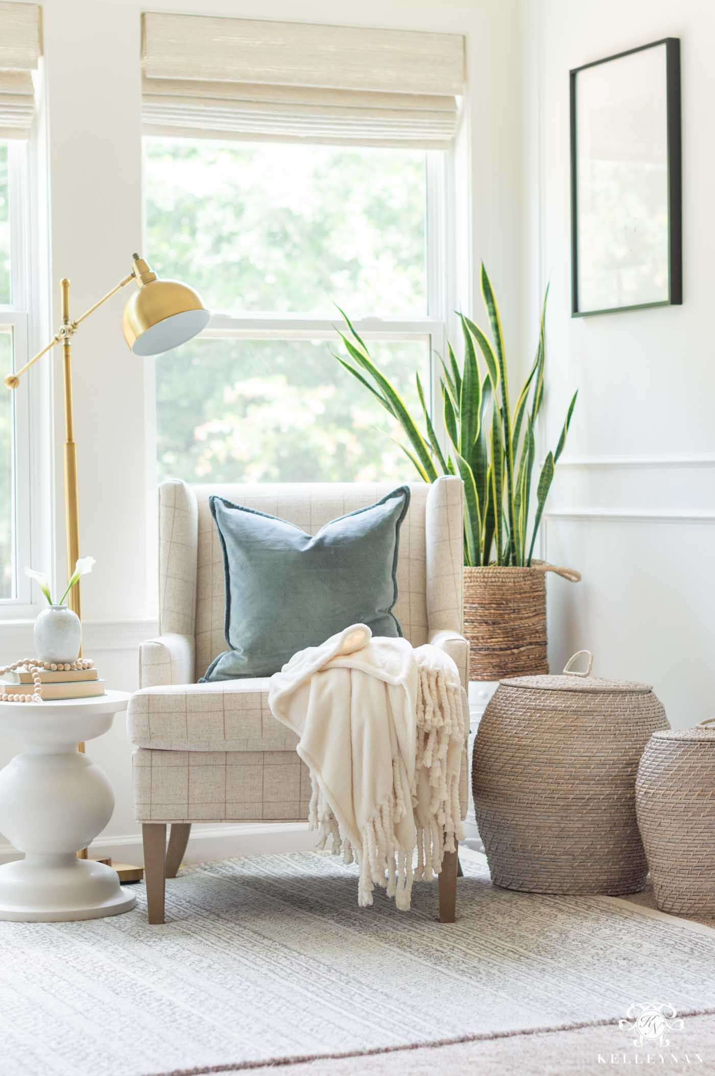 Coordinating The Master Bedroom Sitting Area To The Bedroom Kelley Nan In 2020 Bedroom With Sitting Area Master Bedroom Sitting Area Bedroom Trends