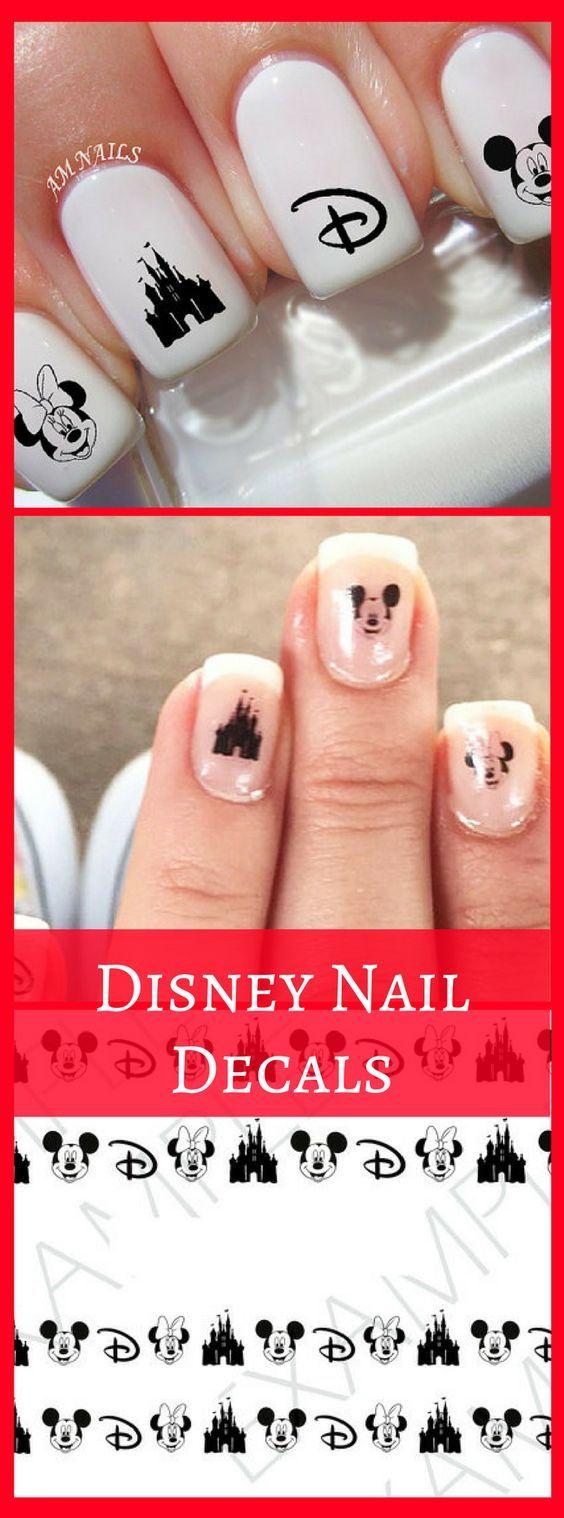 Disney nail decals, very pretty, bright stickers with unique designs ...
