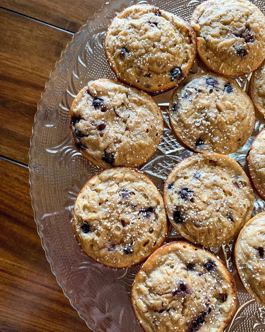 Banana blueberry muffins 1sp 1 cup kodiak cakes