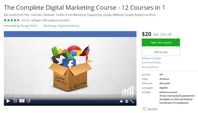 Udemy - The Complete Digital Marketing Course 2017 - 12 Courses in 1
