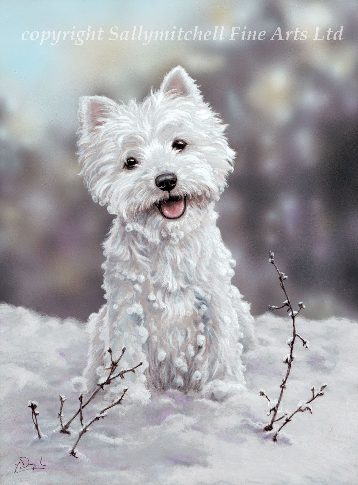 The Snowman, Westie Terrier dog Christmas cards pack of 10 by Paul ...