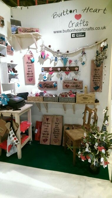 My stand at the country living fair last christmas :)  www.buttonheartcrafts.co.uk