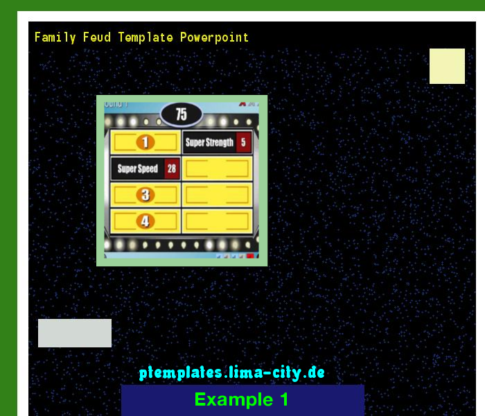 Family feud template powerpoint. Powerpoint Templates 133438. - The ...