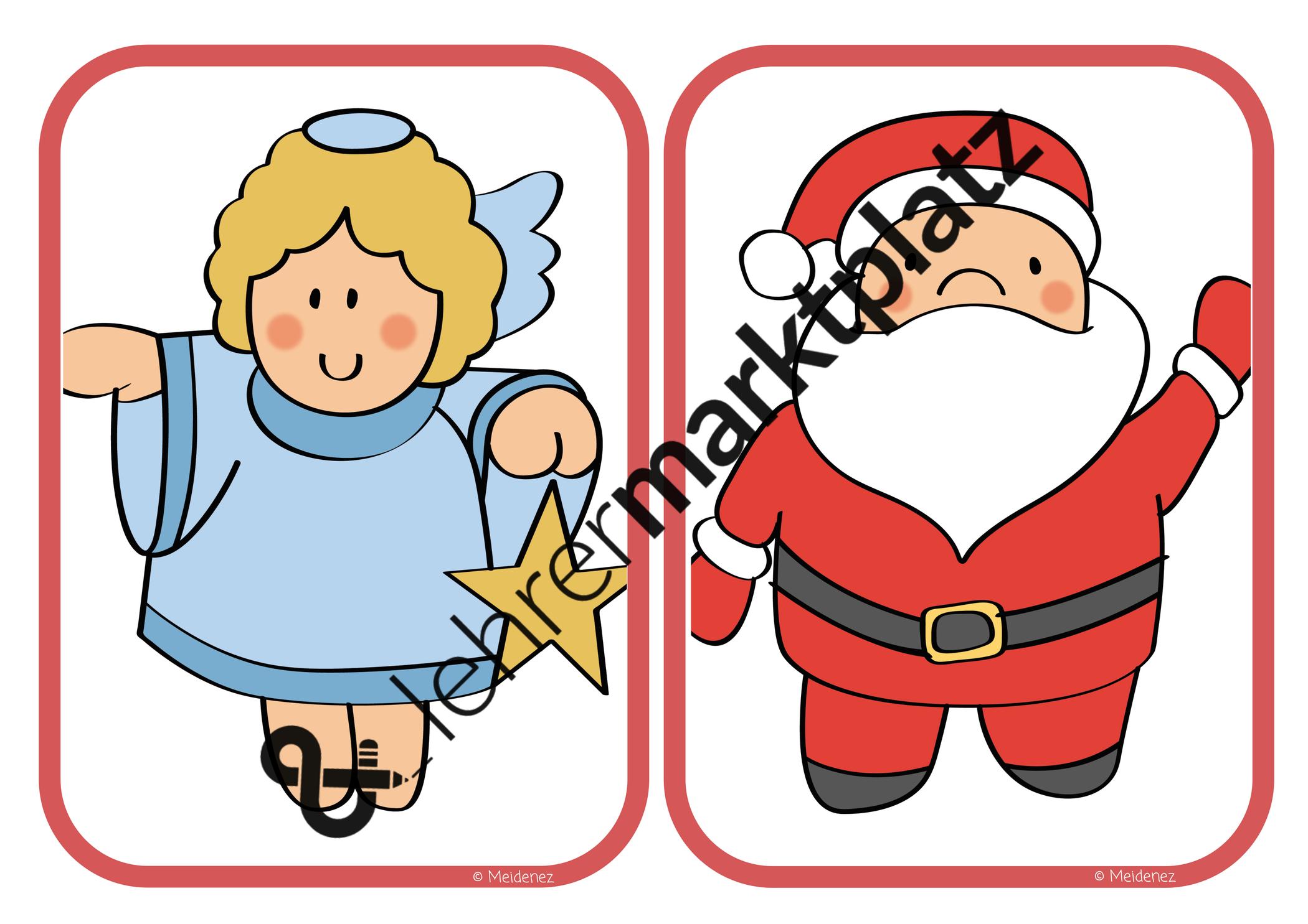 flashcards weihnachten daf daz  christmas german