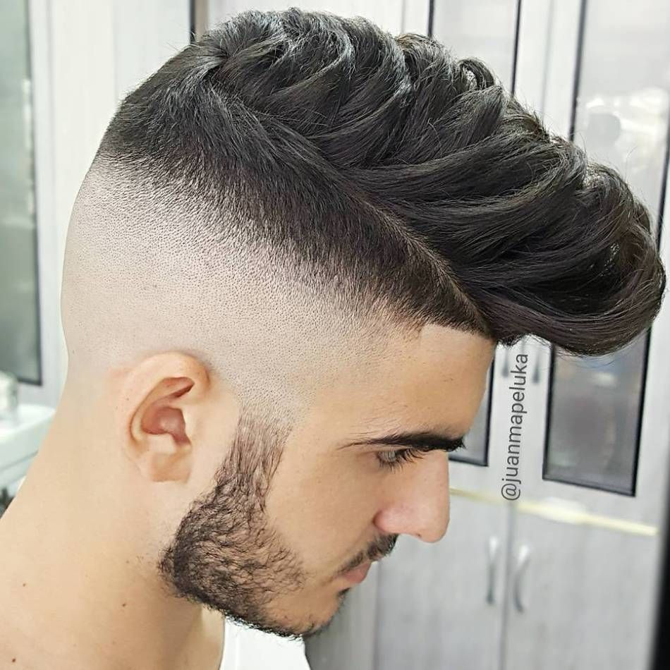 Half shaved pompadour hairstyle menshairstyles mens hairstyles