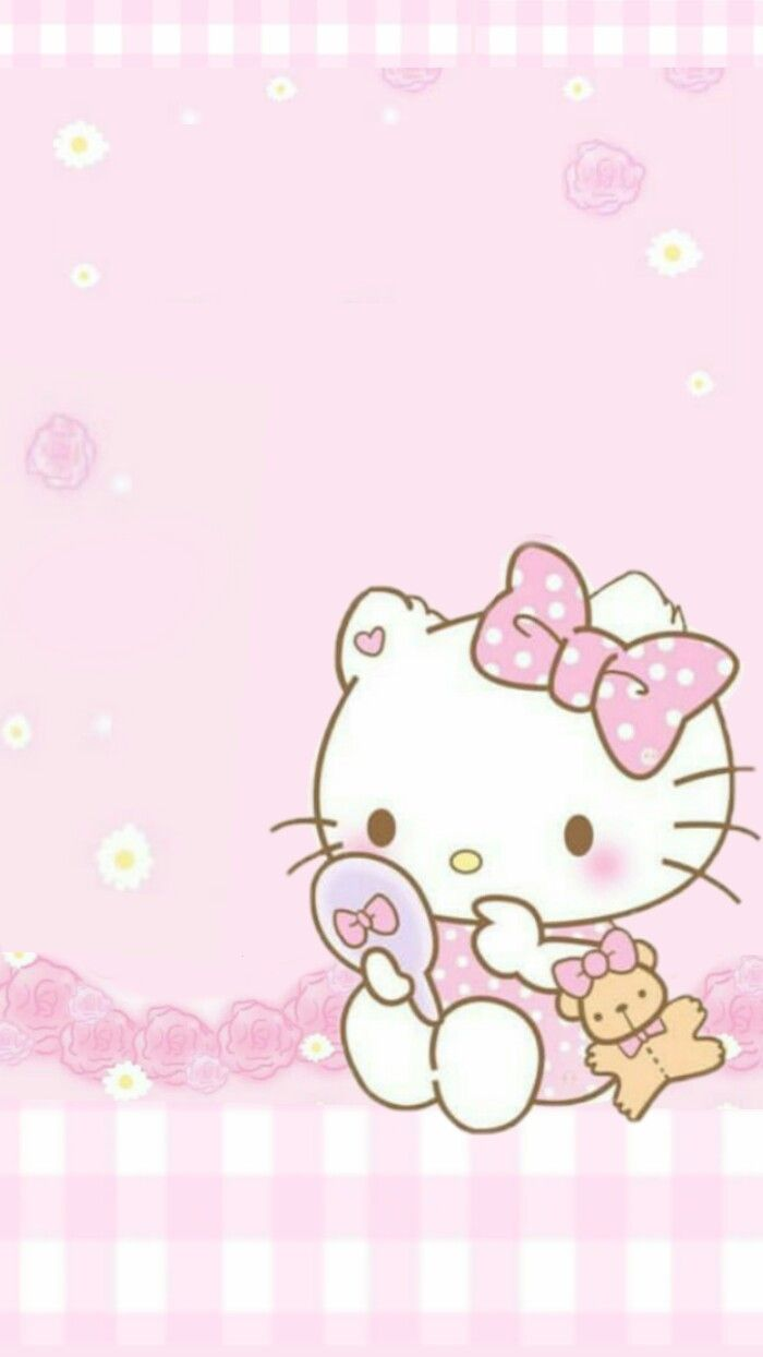 Baby Hello Kitty Pink Background