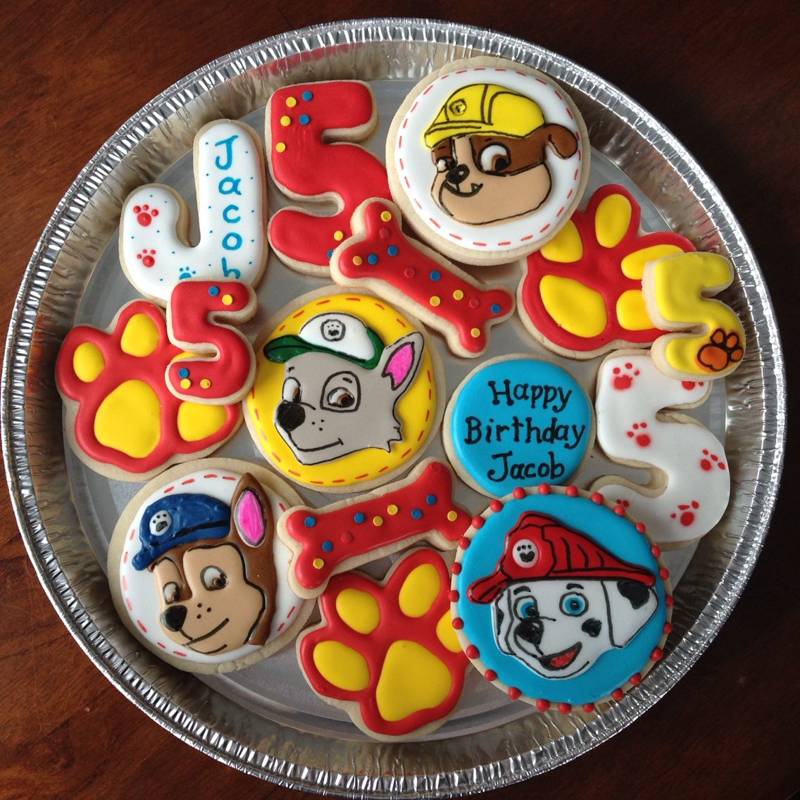 Paw patrol birthday sugar cookies
