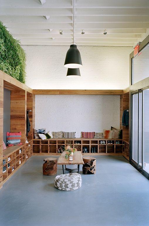 Dxa Studio Turns A Brooklyn Manufacturing Plant Into A Hot Yoga Studio Yoga Studio Interior Yoga Studio Design Yoga Room Design