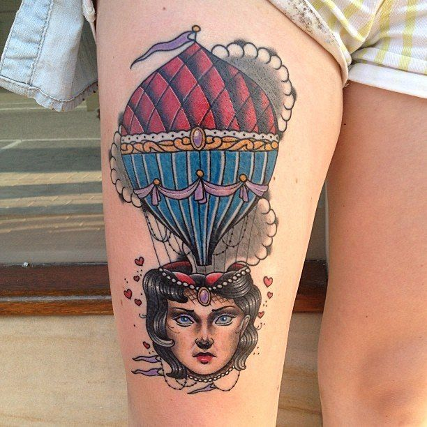 761cde713 24 Hot Air Balloon Tattoos With Uplifting Meanings | Tatto | Air ...