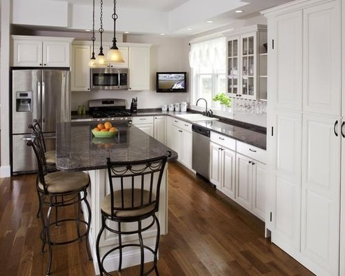 Charmant Traditional Kitchens Small White L Shaped Kitchen Layouts Ideas