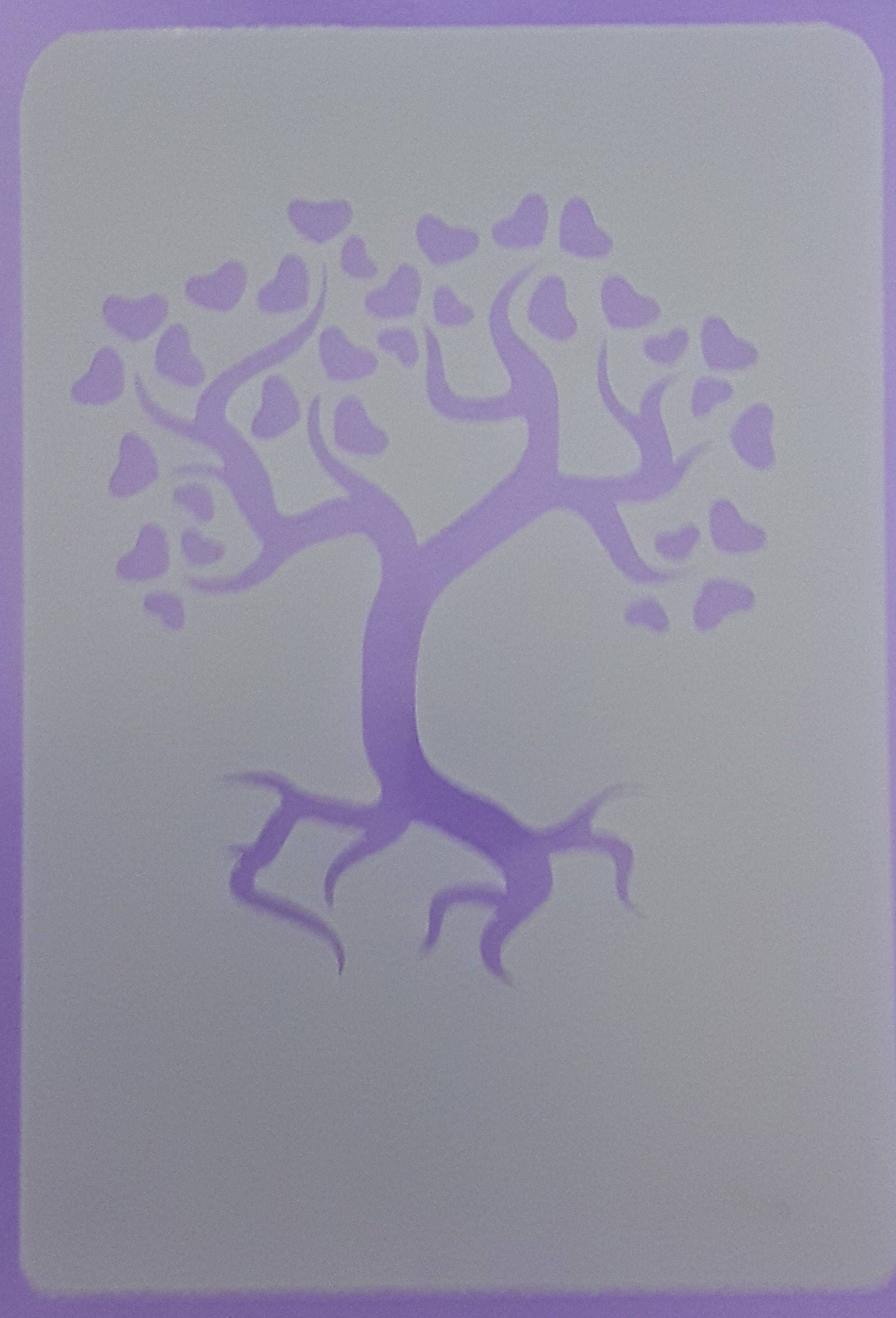 Large tree of life with hearts mylar stencil sheet for greeting large tree of life with hearts mylar stencil sheet for greeting card making wall border kristyandbryce Gallery