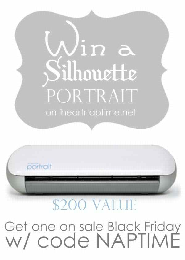 Enter to win this amazing prize of a Silhouette Portrait from @iheartnaptime!!