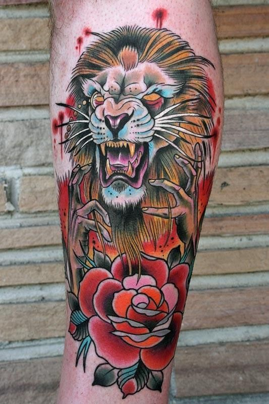 8f5ae8766 old school lion tattoo designs | lion Tattoo Picture | Last Sparrow Tattoo