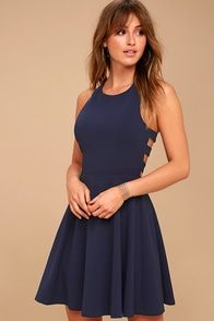 f9f396c8fb57 Daisy Date Light Blue Lace Skater Dress | Fashion 3 | Skater skirt ...