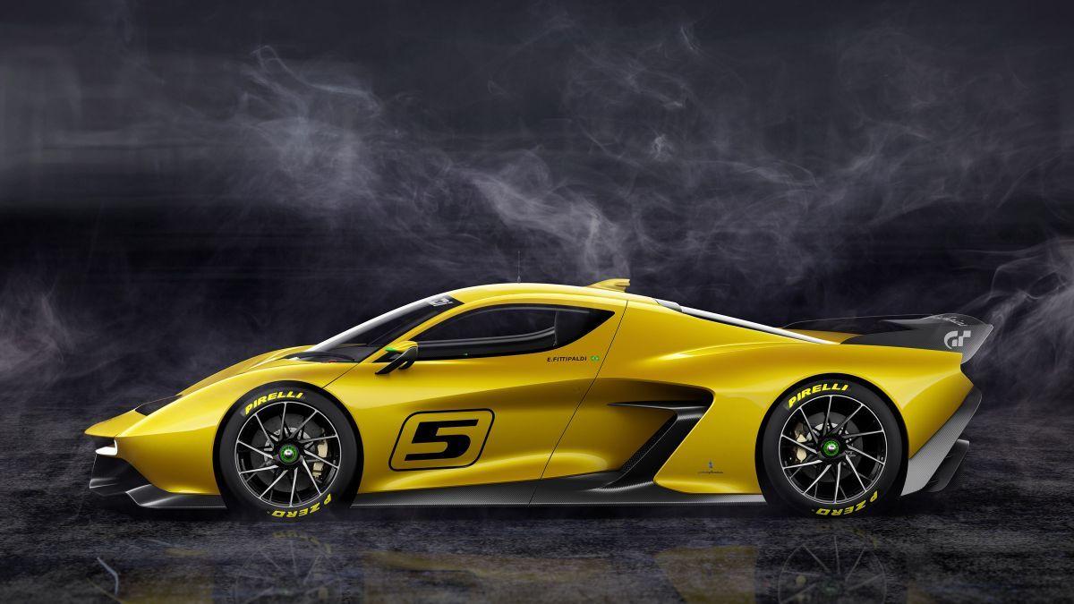 Fittipaldi Ef7 Vision Gran Turismo Concept Yellow Car Car