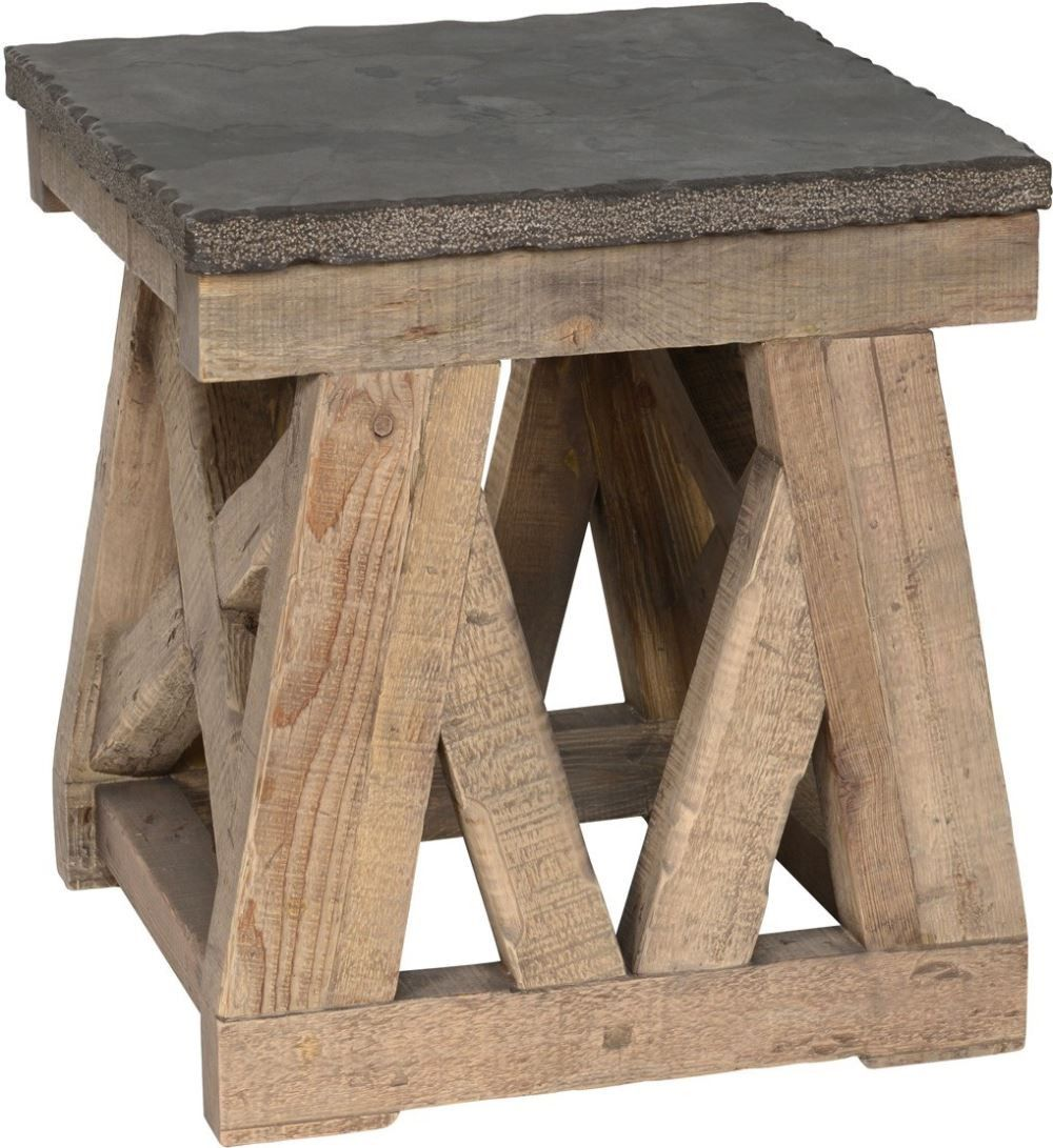 Marbella End Table Stone Top Classic Home Furniture