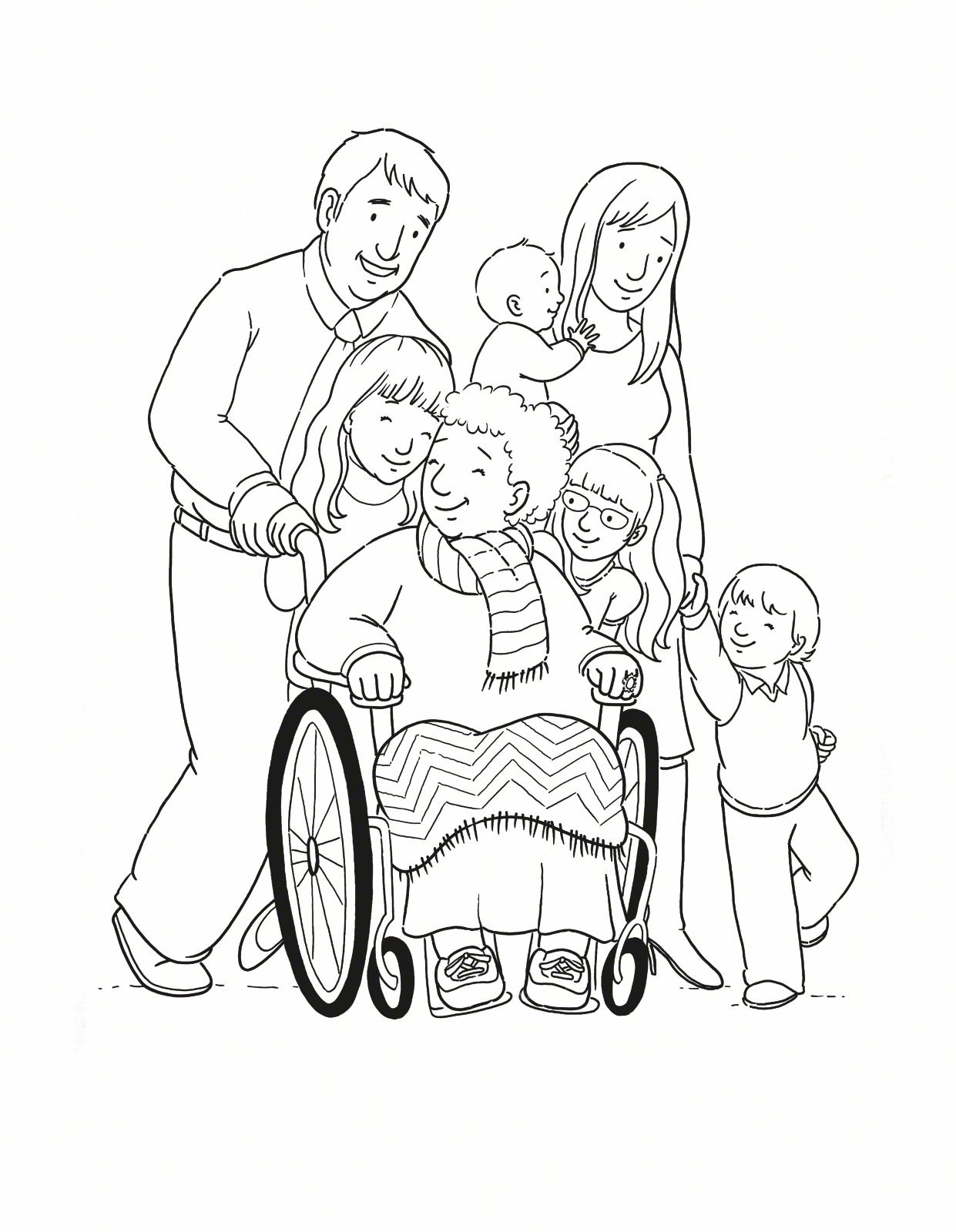 Family Grandmother Primary LDS Coloring Source: http://www