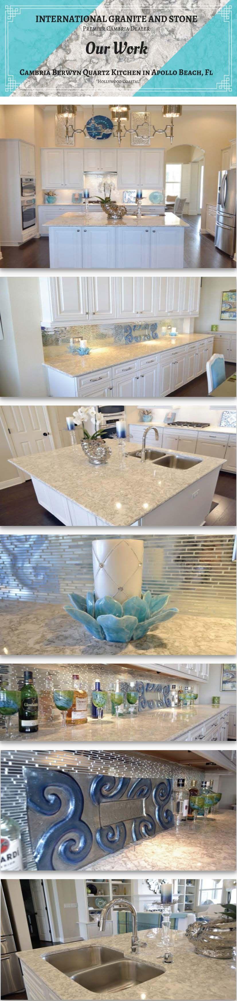 Quartz Countertops Apollo Beach FL | Cambria Quartz Countertop