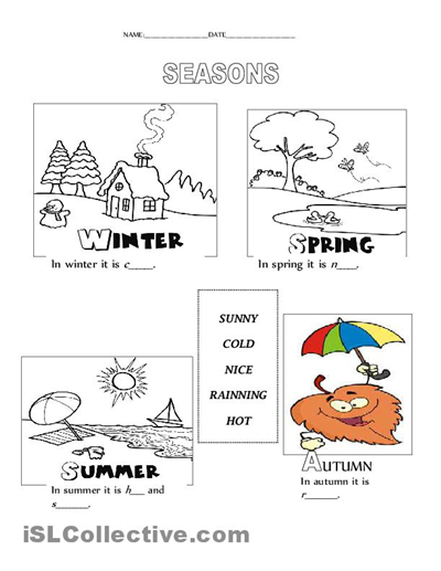 seasons worksheet free esl printable worksheets made by teachers esl activities pinterest. Black Bedroom Furniture Sets. Home Design Ideas