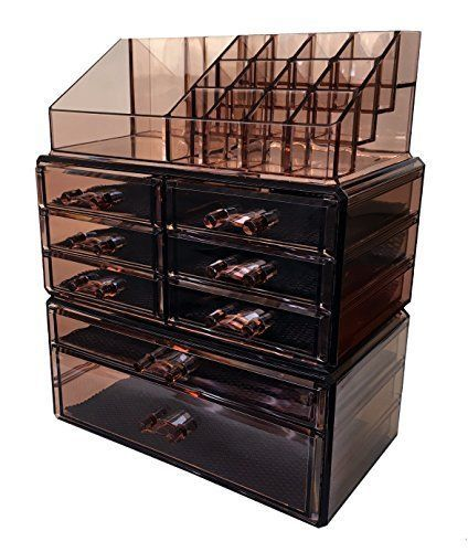 8 Drawers Makeup Cosmetic Jewelry Organizer Display Boxes Case Large