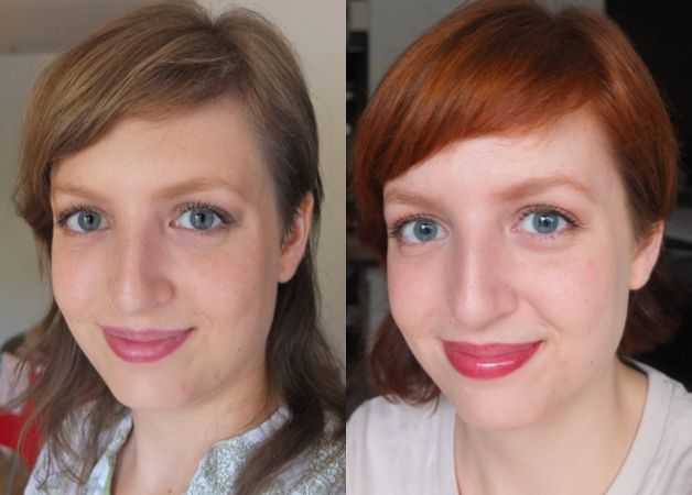 Before And After Virgin Hair Lush Caca Rouge Henna Dye Natural Daylight