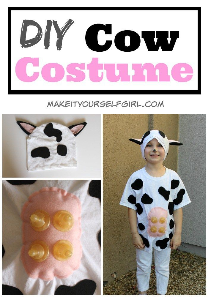 Diy cow costume easy and cute cow costumes and easy diy cow costume easy and cute make it yourself girl solutioingenieria Choice Image