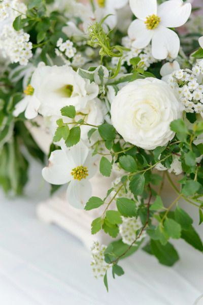 White flowers: http://www.stylemepretty.com/living/2015/03/21/narnia-1st-birthday-party/ | Photography: Annabella Charles - http://www.annabellacharlesblog.com/
