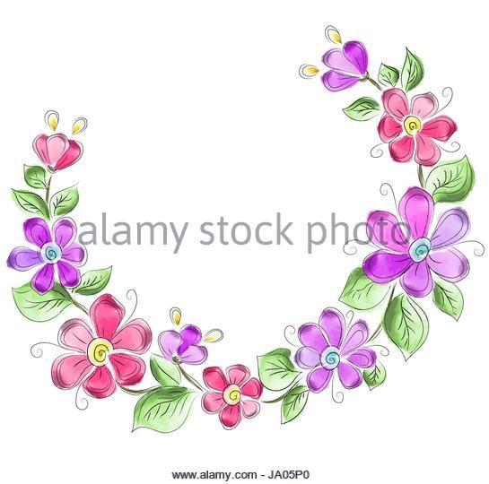 Image result for flower wreath illustration