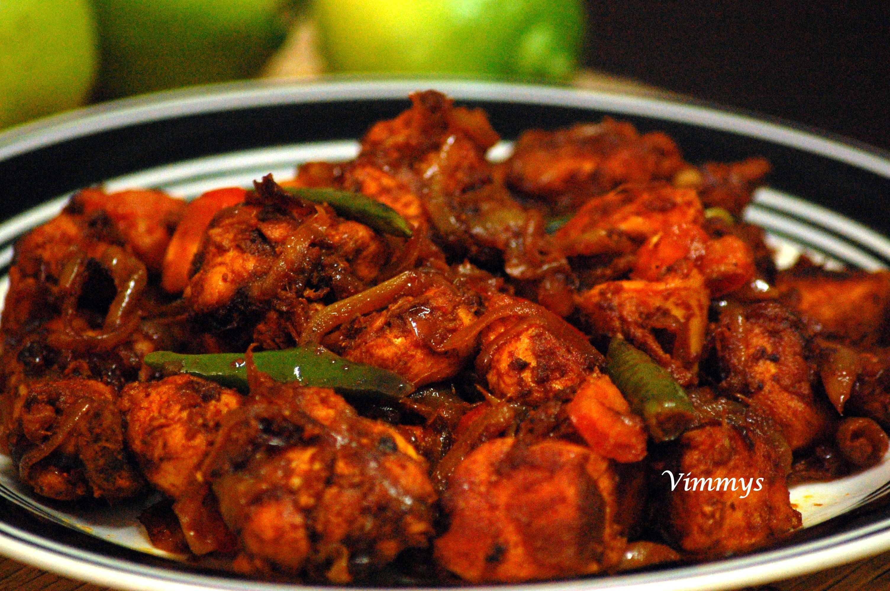 South Indian Chilli Chicken Dry Recipe