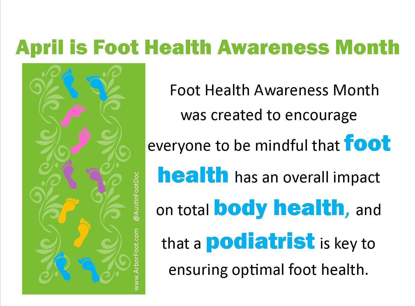 April is foot health awareness month tuesdaytrivia