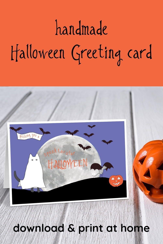 Spooktacular Halloween Card Printable Funny Halloween Cards Etsy Funny Halloween Cards Halloween Greeting Card Halloween Greetings