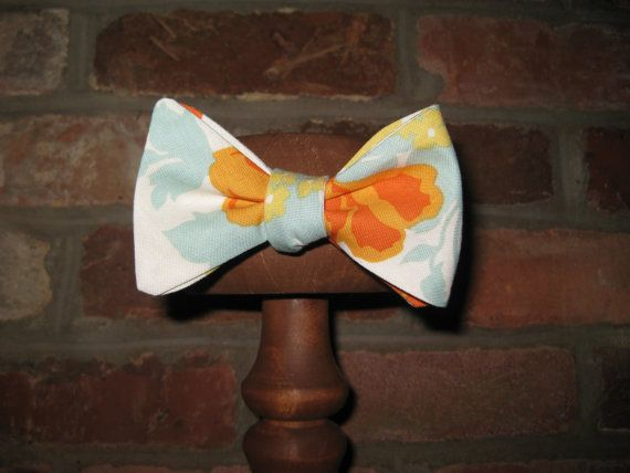 Floral Mens Bow TieCotton Bow TieSelf Tie by SouthernGentBowTies, $34.00