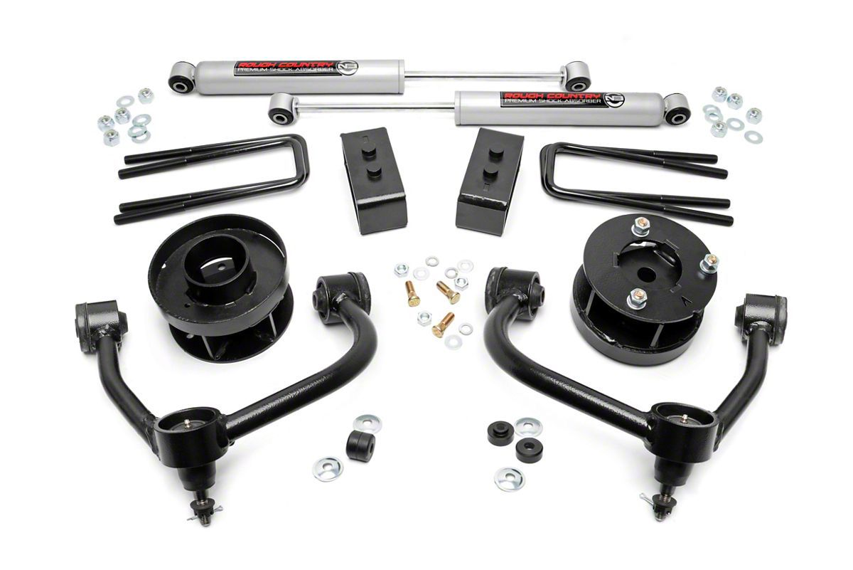 Rough Country F 150 3 In Bolt On Suspension Lift Kit W Premium N3 Shocks 54531 14 20 4wd F 150 Excluding Raptor Lift Kits Control Arms F150