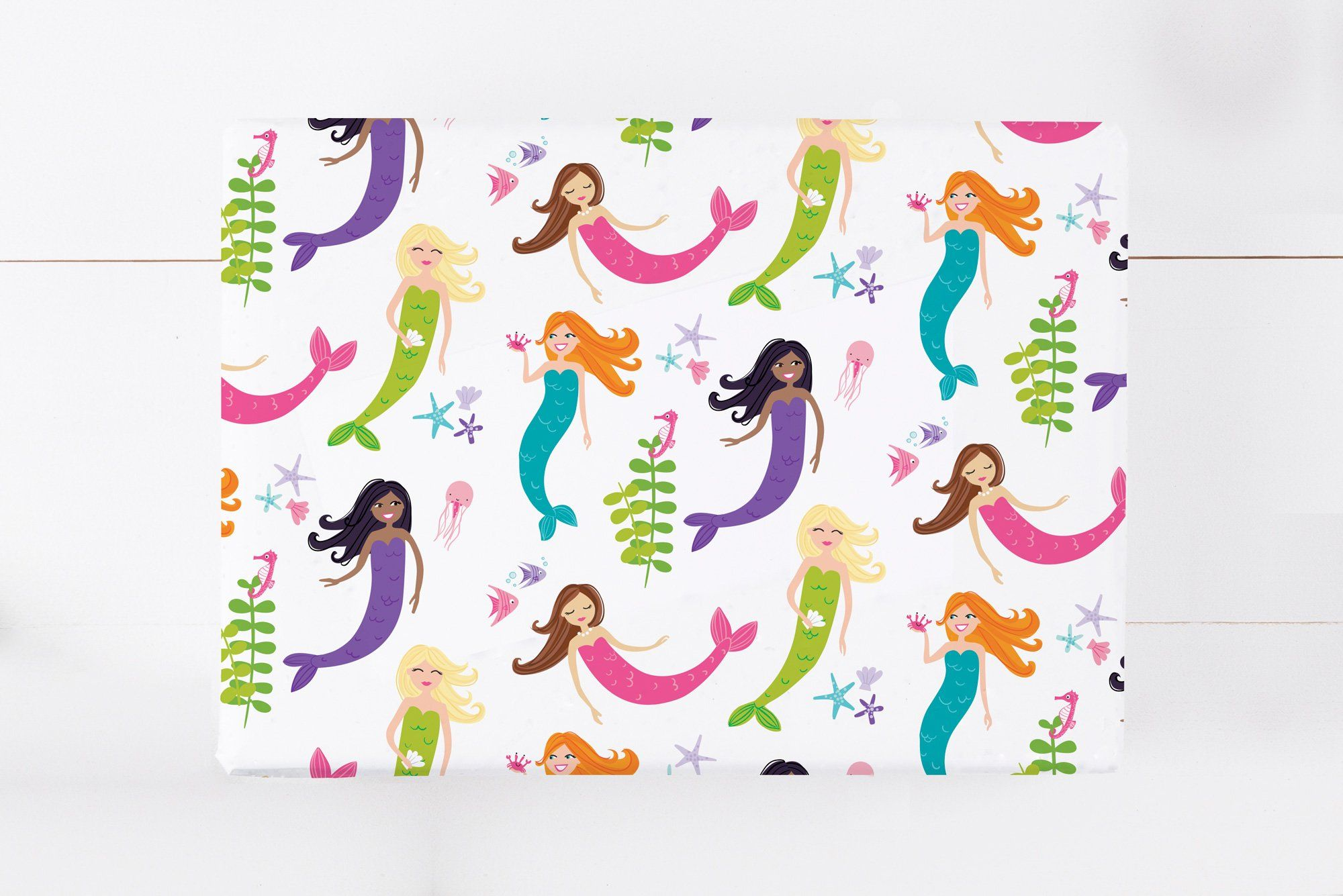 Fun Mermaid Gift Wrap Sheets  Wrapping Paper