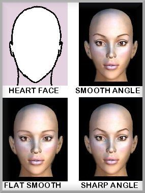 heart shaped face eyebrows  bing images  heart face shape
