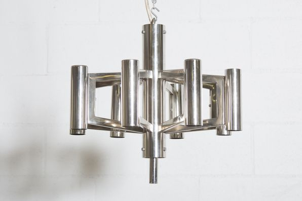 Scolari Style Multi Armed Chrome Chandelier Chrome Chandeliers Chandelier Chrome
