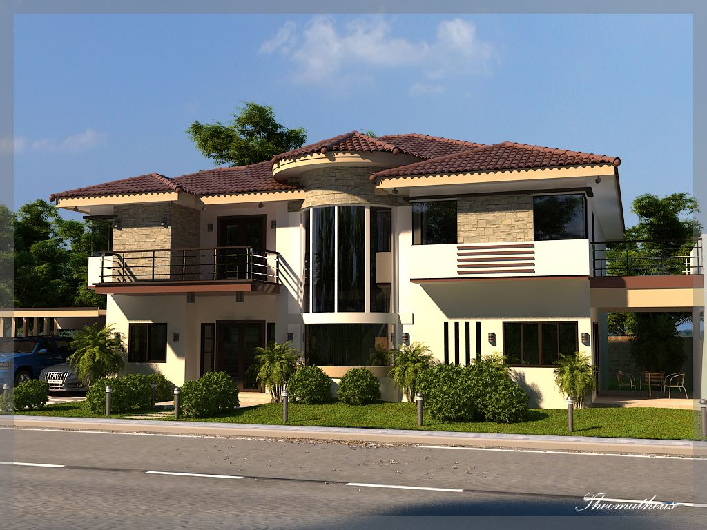 Two Storey Big House Big Modern Houses Small House Design Architectural House Plans