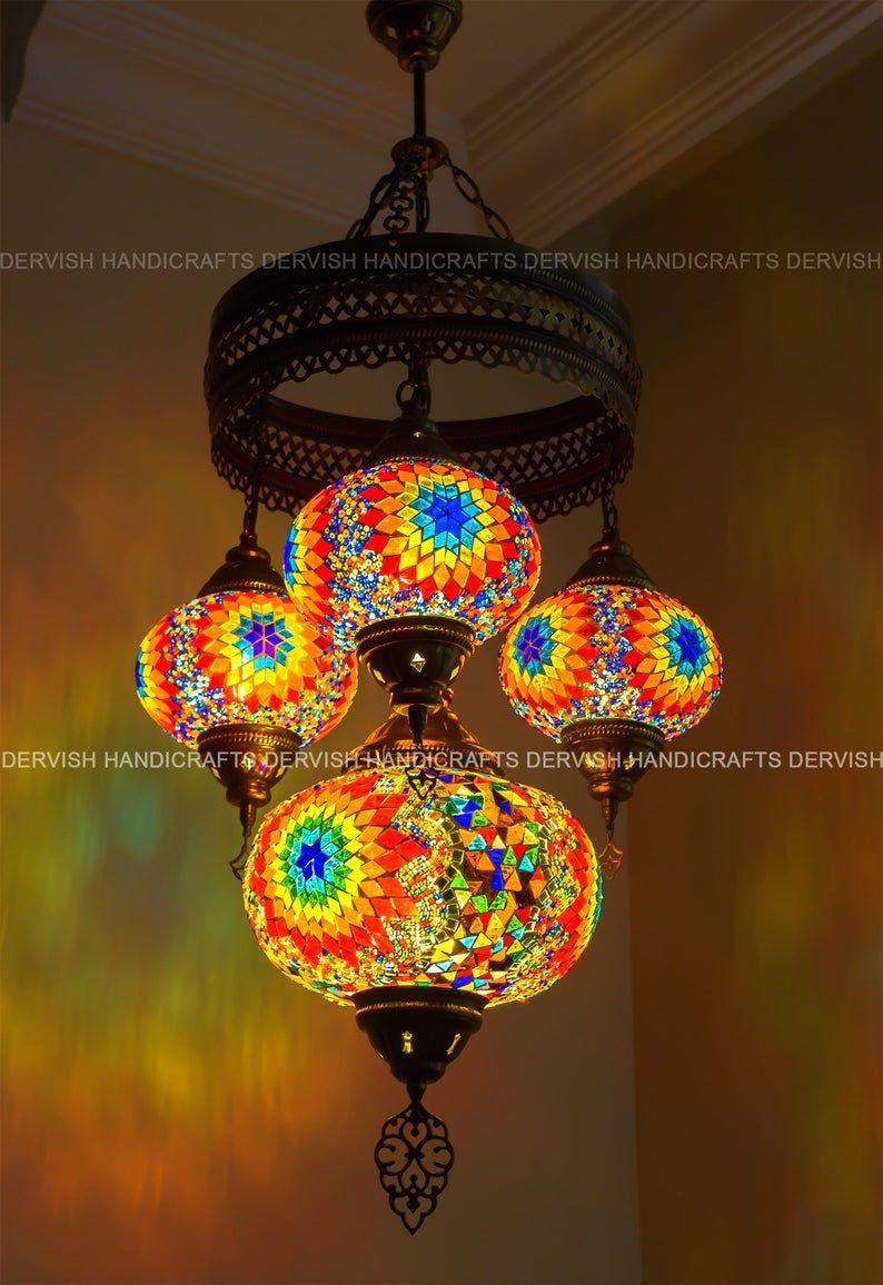 Moroccan Light Mosaic Chandelier Turkish Lights Pendant Lighting