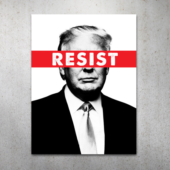 graphic regarding Printable Trump Sign titled Resist Anti-Trump PRINTABLE Protest Poster Things Protest