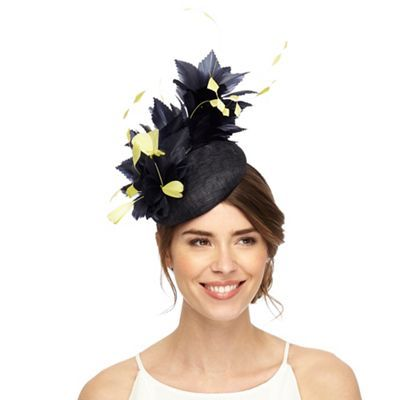 Principles by Ben de Lisi Navy two tone feather fascinator ... 68ce9286b72