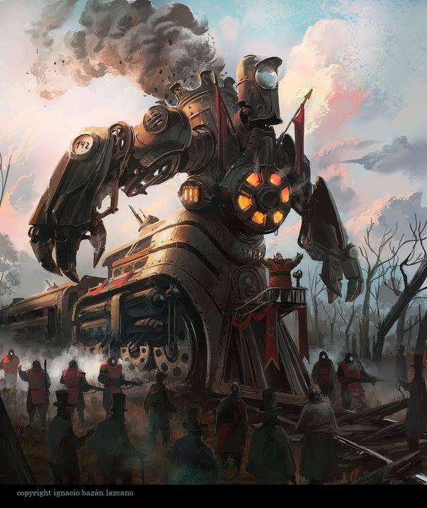 Pin by Newton Ewell on Badass Trains | Steampunk robots