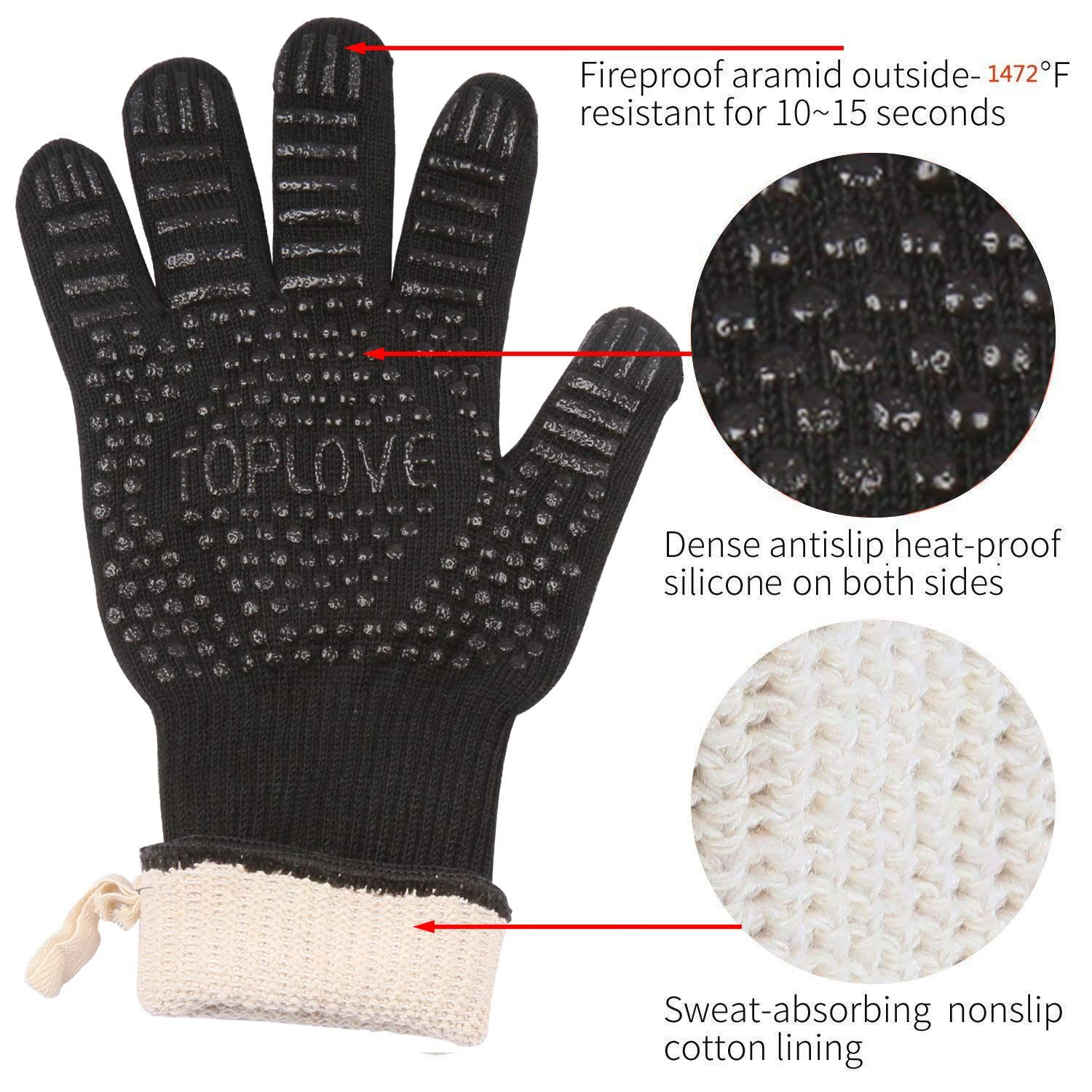 Bbq Cooking Gloves 1472a Newest Heat Insulated Grill Glove